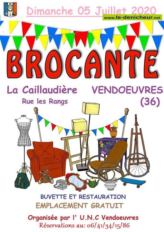 g05 - DIM 05 juillet - VENDOEUVRES - Brocante annulée * 07-05_18