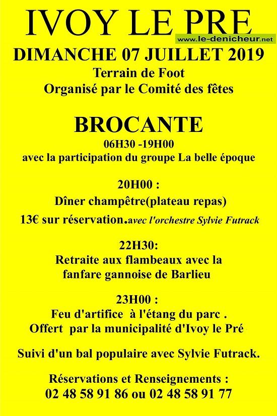 s07 - DIM 07 juillet - IVOY LE PRE - Brocante du comité des fêtes .*/ 07-07_38