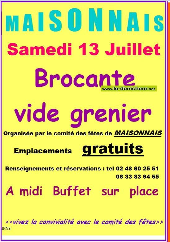s13 - SAM 13 juillet - MAISONNAIS - Brocante du comité ds fêtes */ 07-13_19