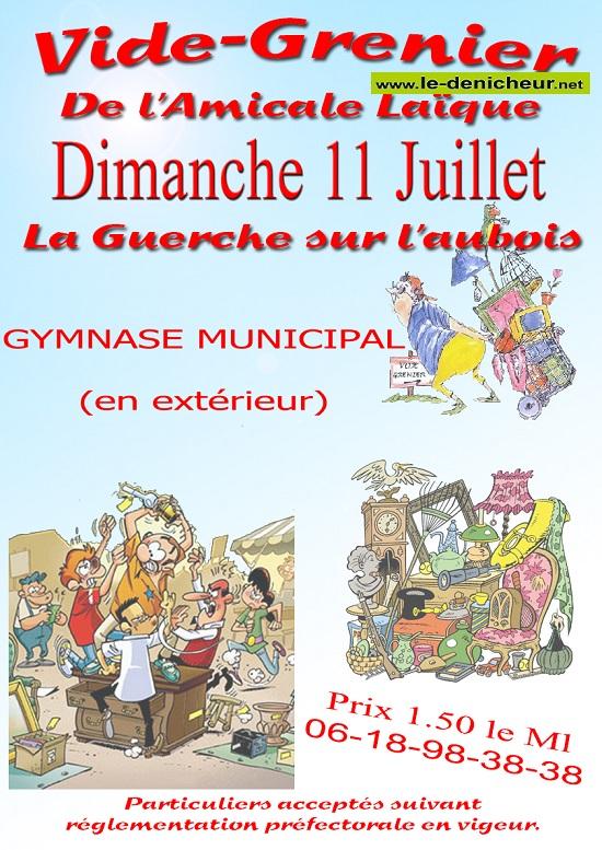 s11 - DIM 11 juillet - LA GUERCHE /L'Aubois - Brocante de l'Amicale Laïque */ 07-15_15