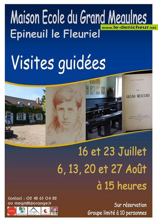 h06 - JEU 06 août - EPINEUIL LE FLEURIEL - Visite guidée * 07-1611