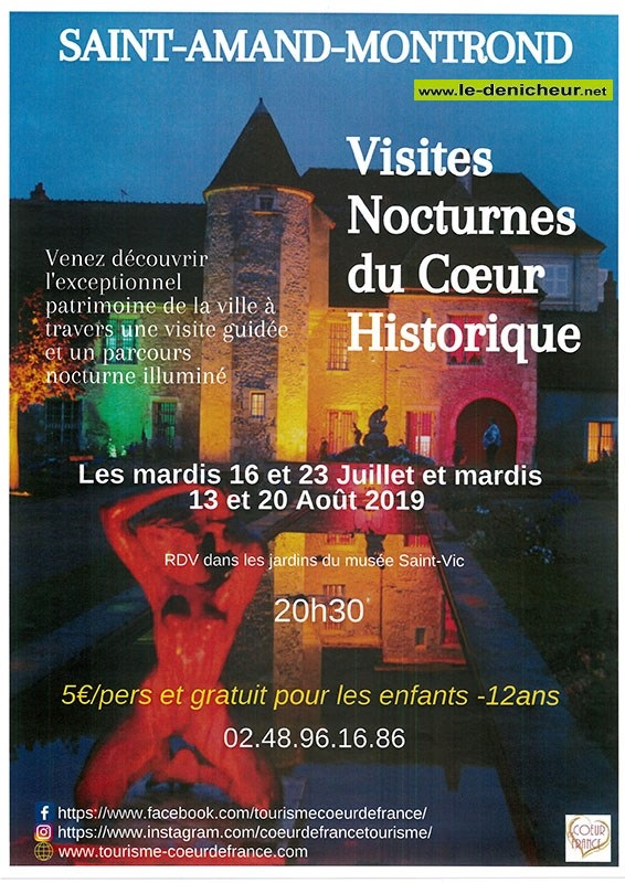 t20 - MAR 20 août - ST-AMAND-MONTROND - Visite nocturne du coeur historique _| 07-16_11