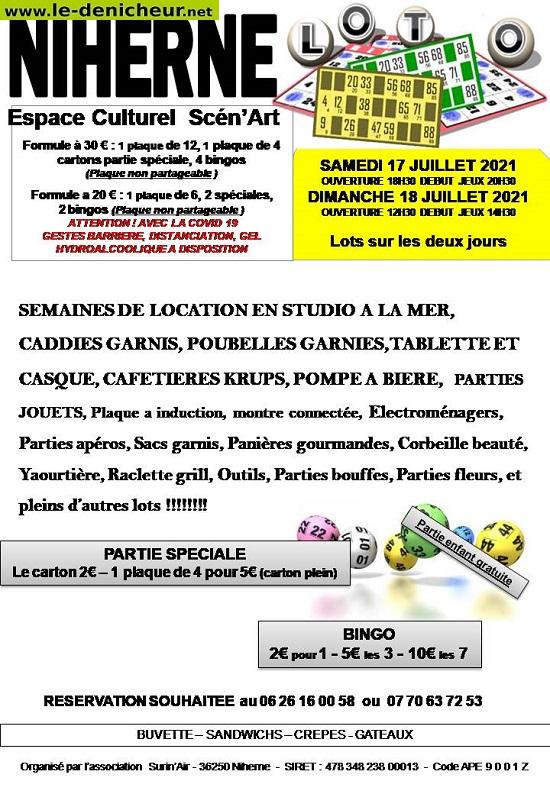 s18 - DIM 18 juillet - NIHERNE - Loto de Surin'Air _* 07-1710