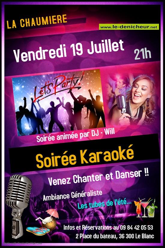 s19 - VEN 19 juillet - LE BLANC - Soirée karaoké */ 07-19_14
