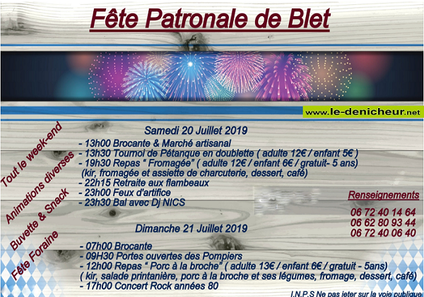 s20 - SAM 20 juillet - BLET - Fête patronale */ 07-20_13