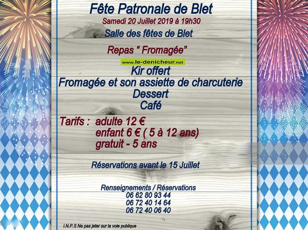 s20 - SAM 20 juillet - BLET - Fête patronale */ 07-20_14