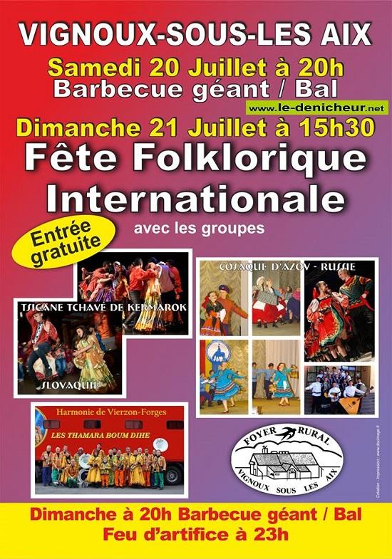 s21 - DIM 21 juillet - VIGNOUX sous les Aix - Fête folklorique internationnale */ 07-20_19