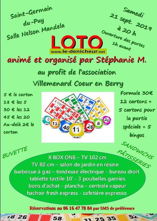 u21 - SAM 21 septembre - ST-GERMAIN DU PUY - Loto de Villemenard Coeur en Berry */ 07-21_18
