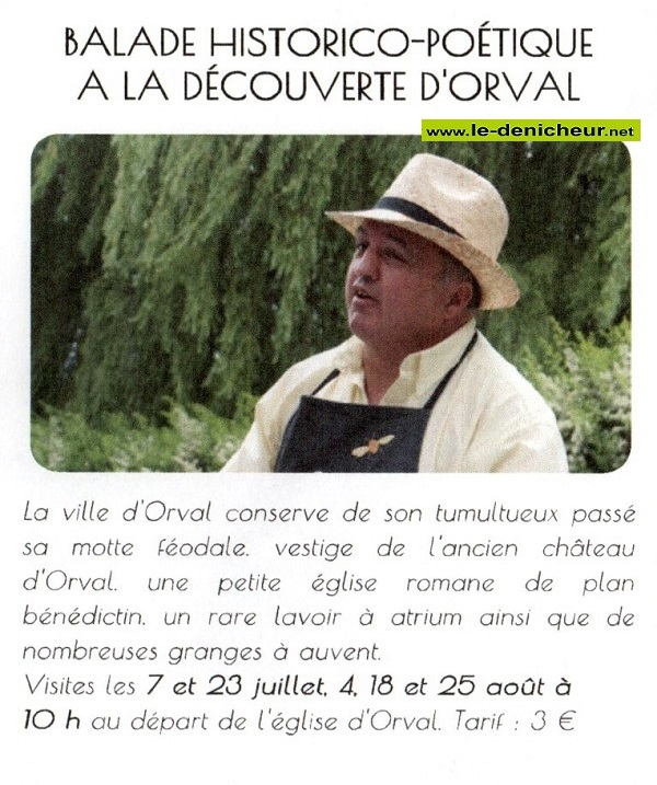 t04 - VEN 04 août - ORVAL - Ballade historico-poétique _* 07-2310