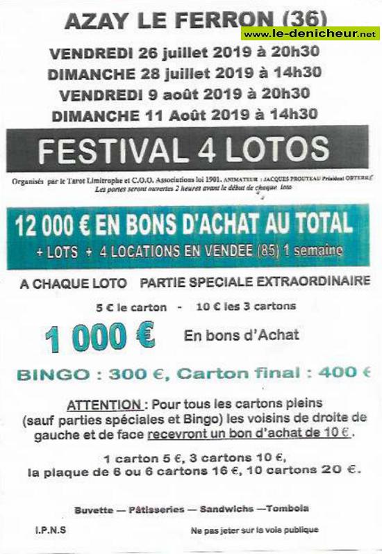 s26 - VEN 26 juillet - AZAY LE FERRON - Loto du Tarot limitrophe et COO */ 07-26_10