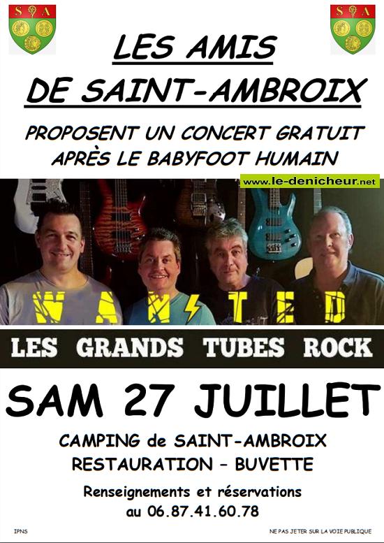 s27 - SAM 27 juillet - ST-AMBROIX - Wanted en concert */ 07-27_12