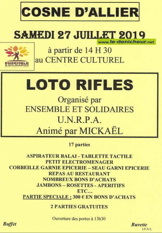 s27 - SAM 27 juillet - COSNE D'ALLIER - Loto de l'UNRPA */ 07-27_17