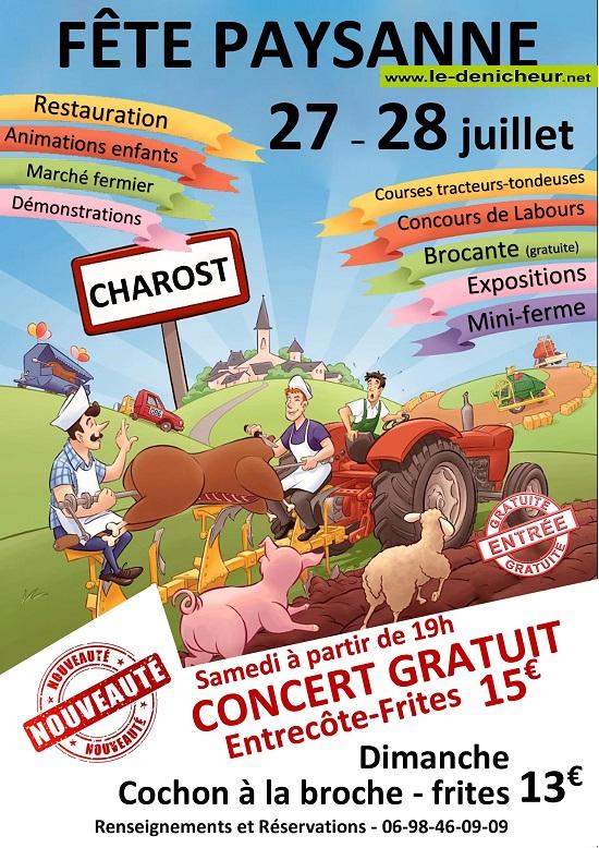 s28 - DIM 28 juillet - CHAROST - Fête paysanne */ 07-27_19