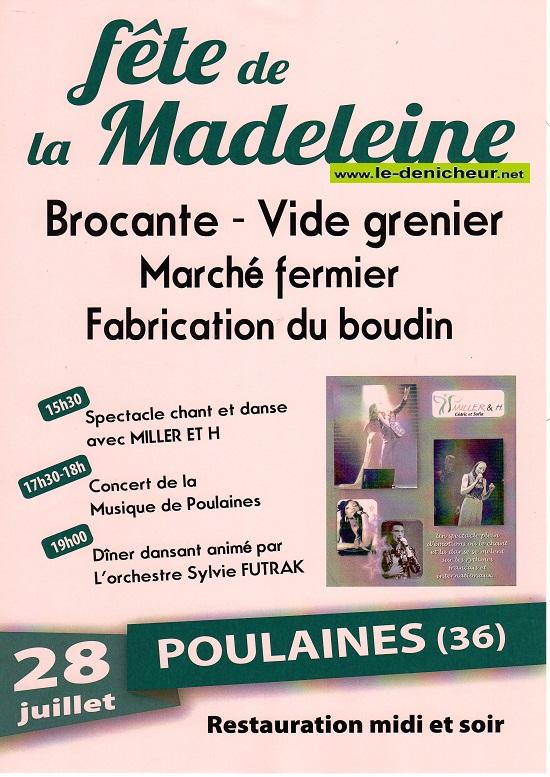 s28 - DIM 28 juillet - POULAINES - Fête de la Madeleine .*/ 07-28_21