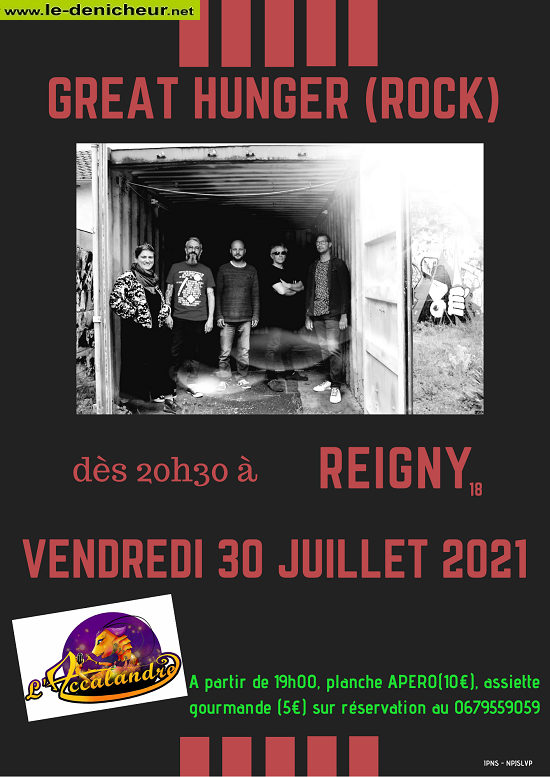 s30 - VEN 30 juillet - REIGNY - Great Hunger en concert */ 07-30_10