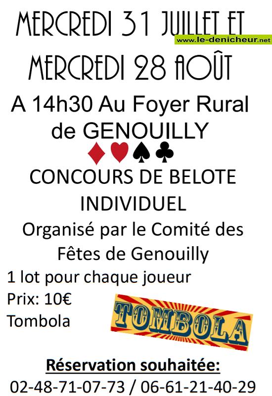 s31 - MER 31 juillet - GENOUILLY - Concours de belote */ 07-31_11
