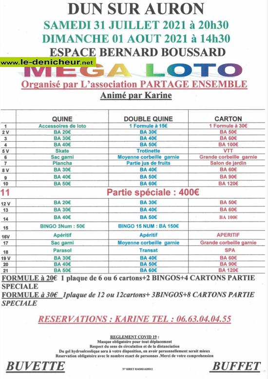 s31 - SAM 31 juillet - DUN /AURON - Loto de Partage Ensemble */ 07-31_12