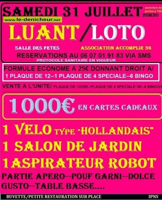 s31 - SAM 31 juillet - LUANT - Loto d'Accomplir 36 */ 07-31_14