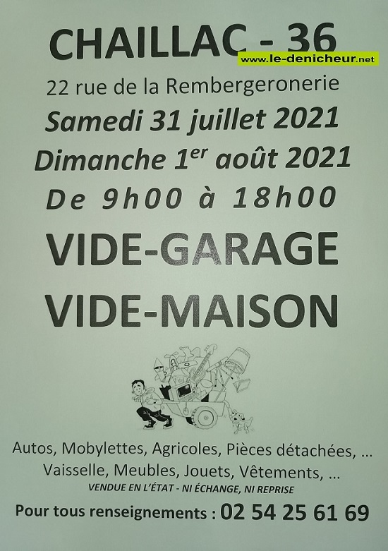 s31 - SAM 31 juillet - CHAILLAC - Vide garage - Vide maison 07-31_15