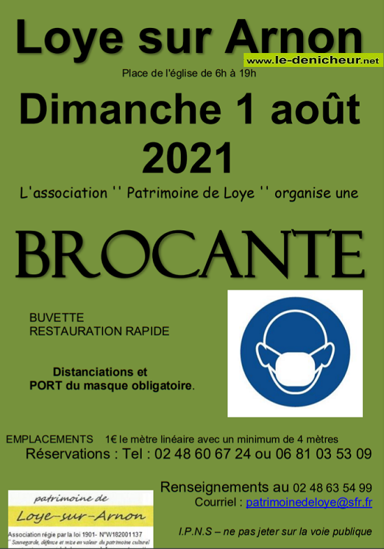 "t01 - DIM 01 août - LOYE /Arnon - Brocante du ""Patrimoine de Loye"" 08-01_13"
