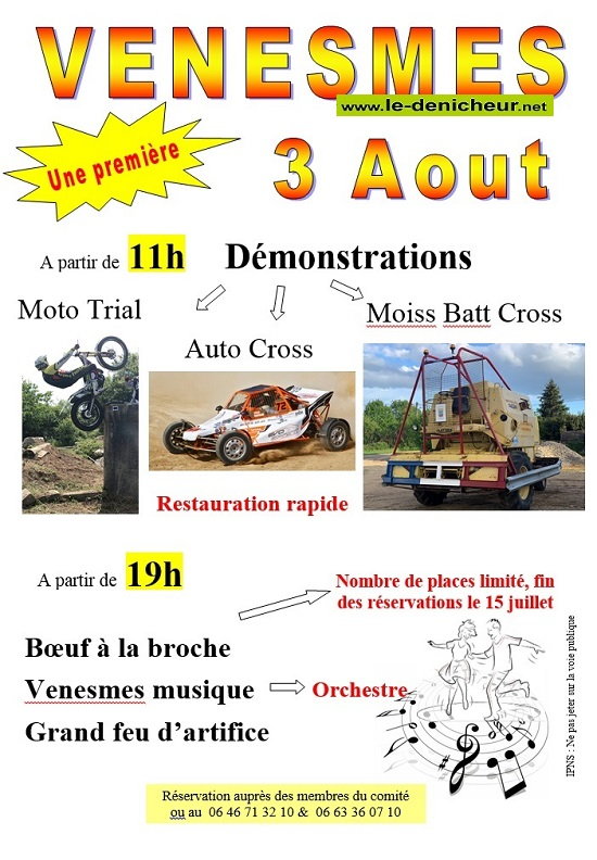 t03 - SAM 03 août - VENESMES - Démonstrations auto, moto, moiss bat cross /feu d'artifice 08-03_20