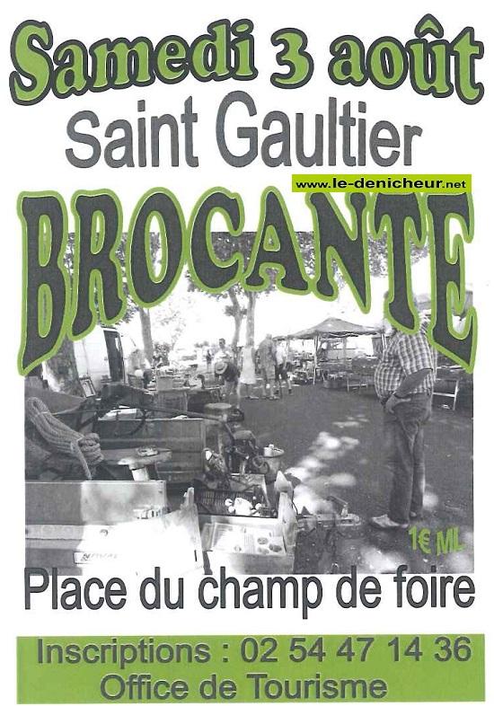 t03 - SAM 03 août - ST-GAULTIER - Brocante _* 08-03_22