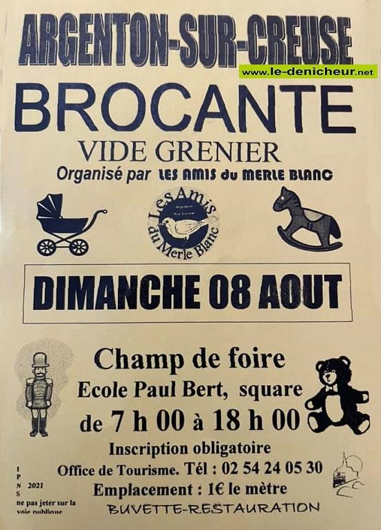 t08 - DIM 08 août - ARGENTON /Creuse - Brocante * 08-08_19