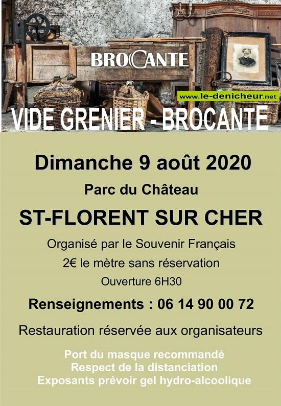 h09 - DIM 09 août - ST-FLORENT /Cher - Brocante du Souvenir Français */ 08-09_22
