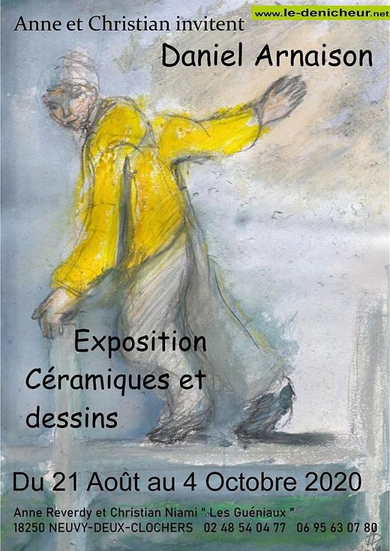 j04 - Jusqu'au 4 aoctobre - NEUVY DEUX CLOCHERS - Exposition céramiques et dessins* 08-21_11