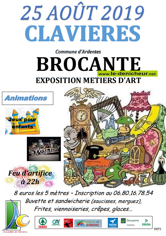 t25 - DIM 25 août - CLAVIERES (Cne d'Ardentes) - Brocante .*/ 08-25_13