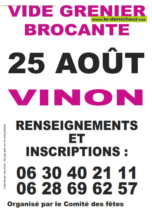 t25 - DIM 25 août - VINON - Brocante du comité des fêtes .*/ 08-25_17