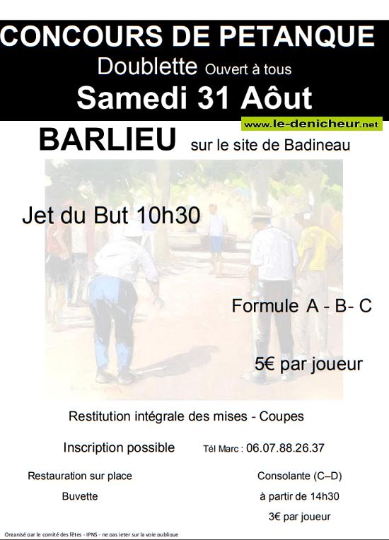 t31 - SAM 31 août - BARLIEU - Concours de pétanque .*/ 08-31210