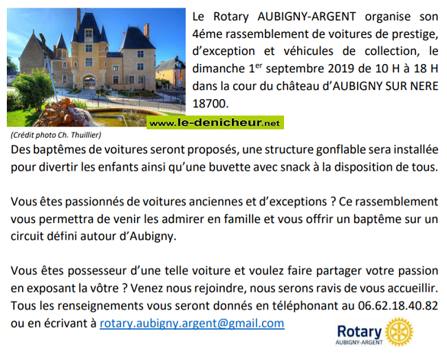 u01 - DIM 01 septembre - AUBIGNY /Nère - Rassemblement de voitures de prestige et d'exception 09-01_17
