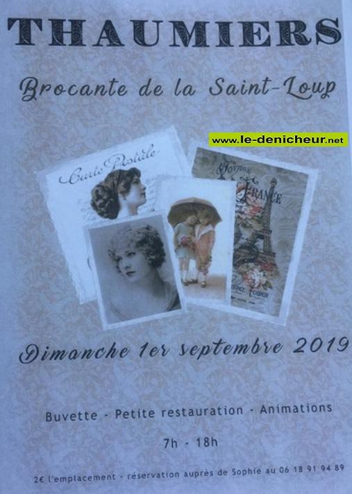 u01 - DIM 01 septembre - THAUMIERS - Brocante * 09-01_20