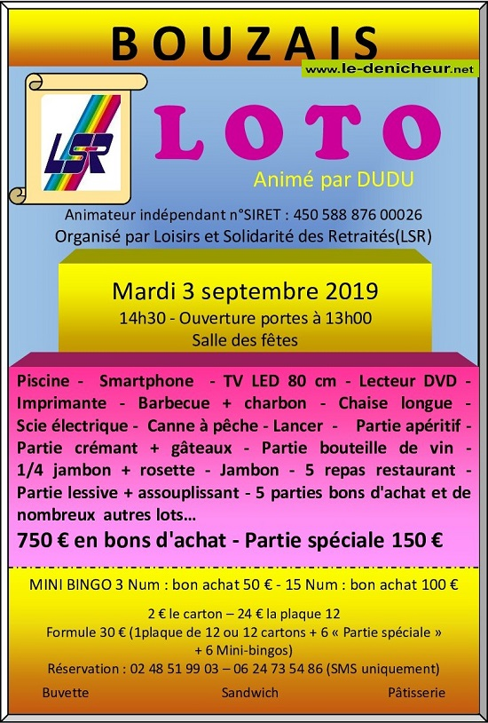 u03 - MAR 03 septembre - BOUZAIS - Loto de LSR */ 09-03_10