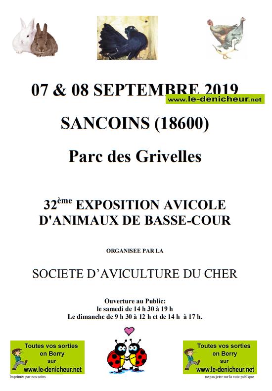 u07 - SAM 07 septembre - SANCOINS - Exposition Avicole d'Animaux de Basse-Cour */ 09-07_12