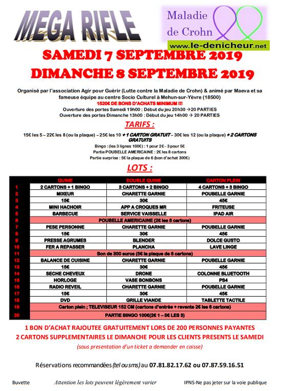 u08 - DIM 08 septembre - MEHUN /Yèvre - Rifles d'Agir pour Guérir */ 09-07_15