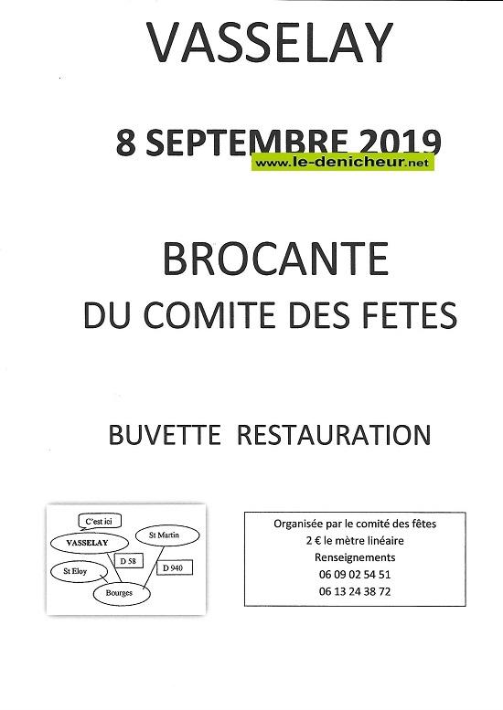 u08 - DIM 08 septembre - VASSELAY - Brocante du comité ds fêtes .*/ 09-08_33