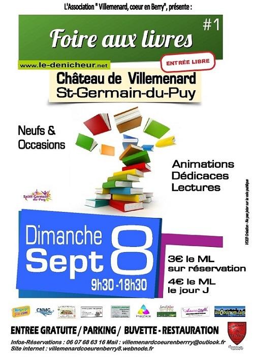 u08 - DIM 08 septembre - ST-GERMAIN du PUY - Foire aux livres */ 09-08_36