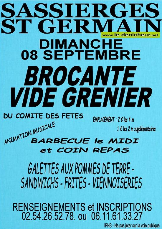 u08 - DIM 08 septembre - SASSIERGES ST-GERMAIN - Brocante du comité des fêtes */ 09-08_38