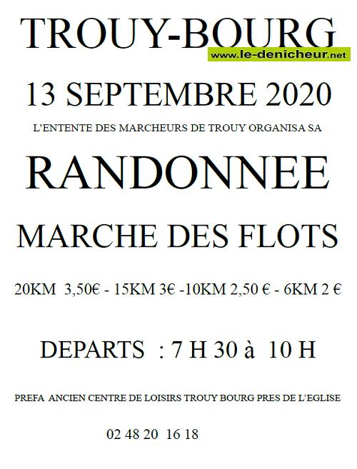 i13 - DIM 13 septembre - TROUY - Marche de l'Entente des Marcheurs */ 09-13_13