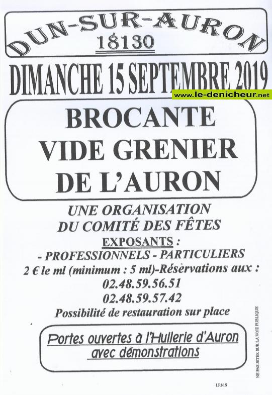u15 - DIM 15 septembre - DUN /Auron - Brocante du comité des fêtes */ 09-15_15