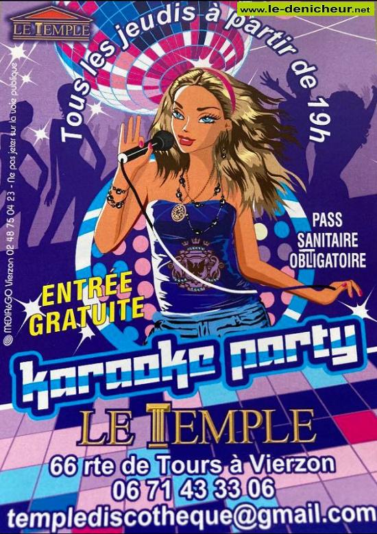 v21 - JEU 21 octobre - VIERZON - Karaoké Party * 09-1615