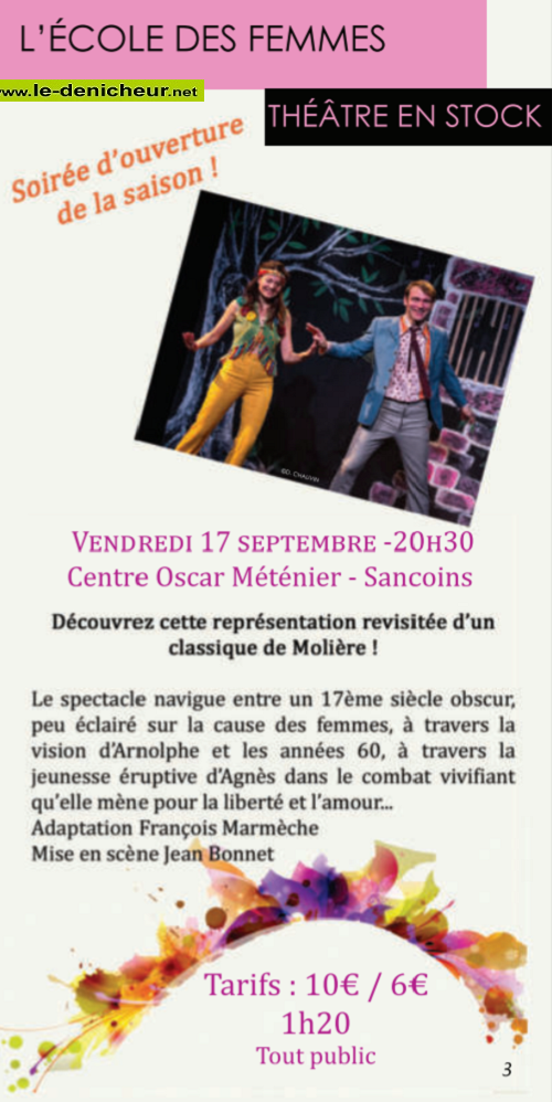 u17 - VEN 17 septembre - SANCOINS - L'Ecole des Femmes * 09-17_11