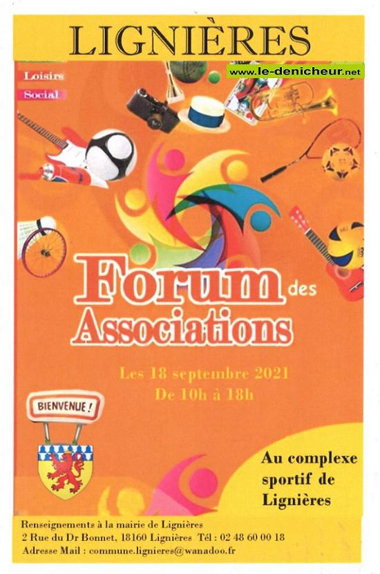 u18 - SAM 18 septembre - LIGNIERES - Forum des associations * 09-1814