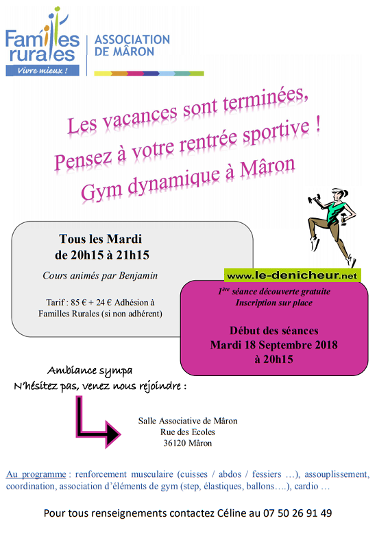 MAR 18 septembre - MARON - Reprise des cours de gym dynamique 09-18_11