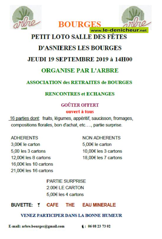 u19 - JEU 19 septembre - ASNIERES LES BOURGES - Loto de l'ARBRE */ 09-19_10