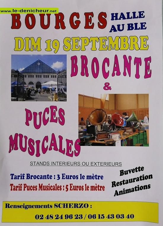 u19 - DIM 19 septembre - BOURGES -Brocantes et  Puces musicales */ 09-19_19