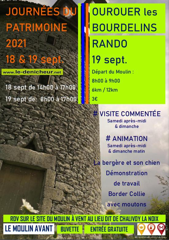 u19 - DIM 19 septembre - OUROUER LES BOURDELINS - Journées du Patrimoine */ 09-19_21