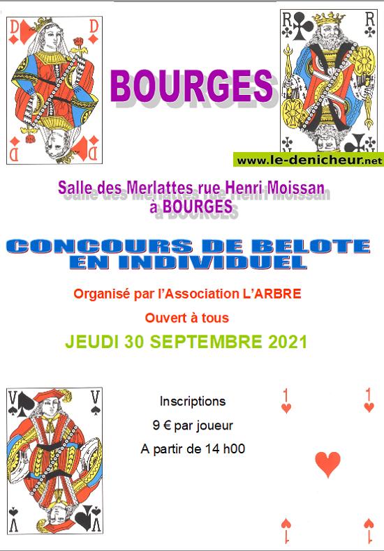u30 - JEU 30 septembre - BOURGES - Concours de belote */ 09-20_18
